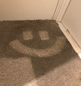 Carpet Cleaning In Nottingham With Smile Face